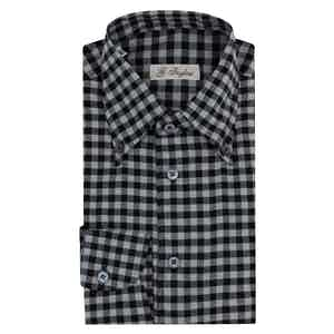 Black Cotton Check Shirt