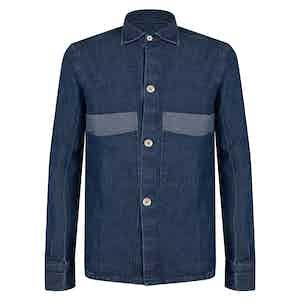 Blue Cotton Denim Overshirt