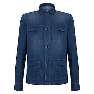 Blue Denim Overshirt