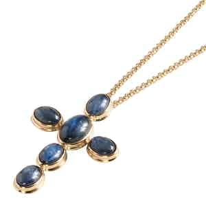 Blue Cyanite Ophir Pendant