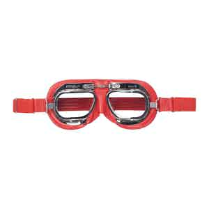 Red Leather CB Driving Goggle
