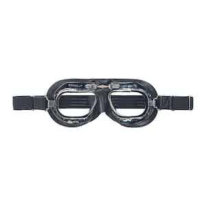 Black Leather CB Driving Goggle