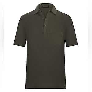 Seaweed Green Cotton Polo Shirt