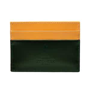 Dark Green Bridle Hide Flat Credit Card Case