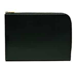 Dark Green Bridle Hide Large Zip Portfolio