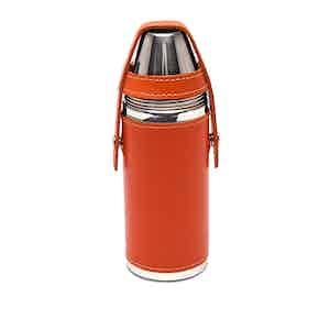 Orange Sterling 8oz Flask
