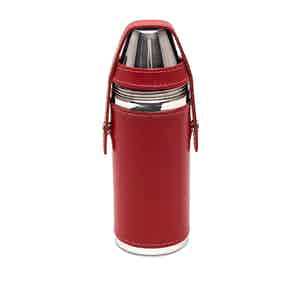 Red Sterling 8oz Flask