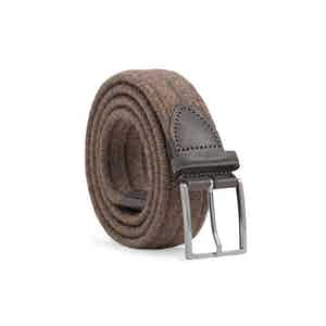 Brown Braided Wool Belt Antonio