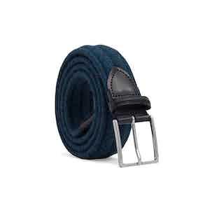 Blue Braided Wool Belt Fabrizio