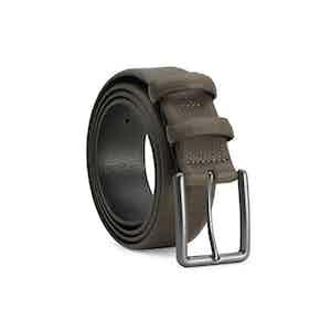 Green Classic Leather Belt Santiago