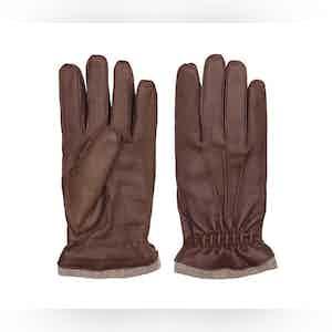 Brown Carlo Deer Leather Gloves