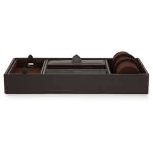 Brown Blake Valet Tray With Cuff