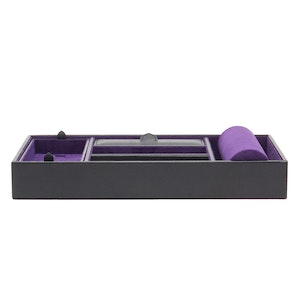 Black Pebble Blake Valet Tray With Cuff