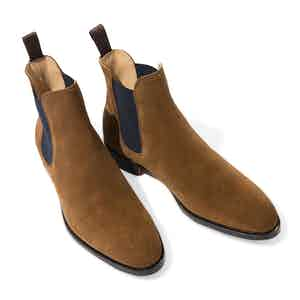 Tobacco Suede Giancarlo Chelsea Boots