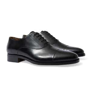 Black Leather Giove Oxford Shoes