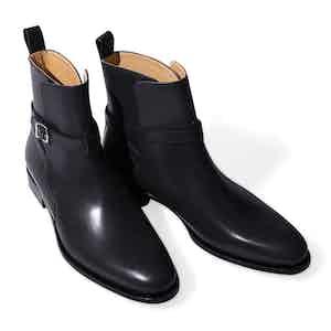 Black Leather Libero Jodhpur Boots