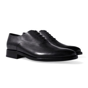 Black Leather Marco Nero Oxford Shoes