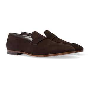 Brown Suede Marzio Moro Scamosciato Loafers