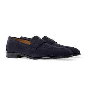 Blue Suede Raimondo Abisso Scamosciato Loafers