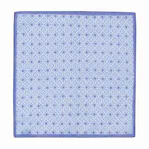 Sky and Indigo Cotton Mosaic Pocket Square