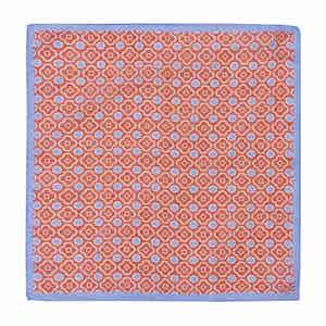 Red and Sky Cotton Mosaic Pocket Square