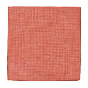 Red and White Cotton Spotted Pocket Square