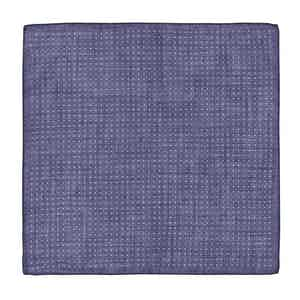 Navy and White Cotton Spotted Pocket Square