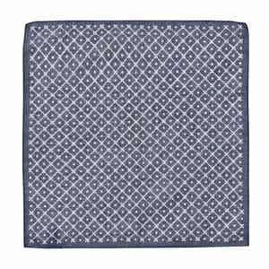Navy Cotton Tile Pocket Square