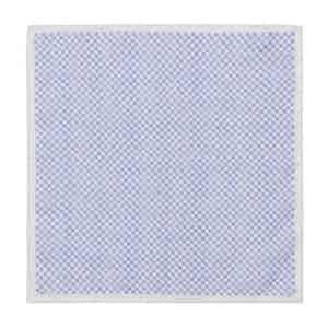 Sky Blue Cotton Mini-Squares Pocket Square