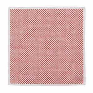 Red Cotton Mini-Squares Pocket Square