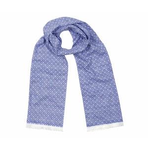 Sky Blue Tubular Cotton Tile Scarf