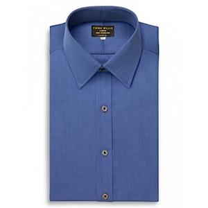 Navy Cristallo Cotton Shirt