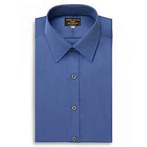 Navy Cristallo Cotton Shirt