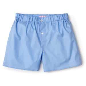 Sky Blue Superior Patchwork Cotton Boxer Shorts