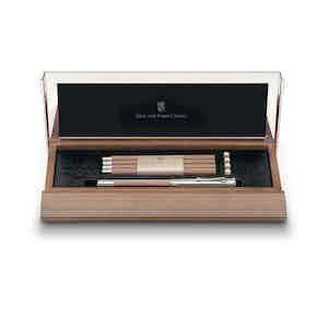 Brown Alder Wood Desk Set No 1