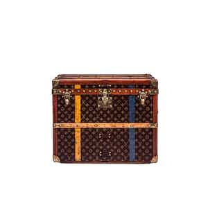 Vintage Striped Louis Vuitton Trunk