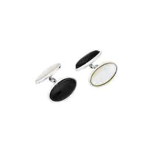 Reversible Sterling Silver Oval Cufflinks