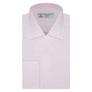 Pink Herringbone Superfine Cotton Shirt