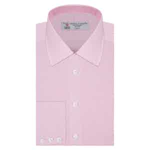 Pink Micro Check Classic Cotton Shirt