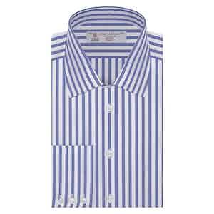 Blue Candy Stripe Classic Cotton Shirt