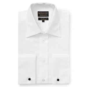 White Poplin St James's Collar Tailored Fit Double Cuff Shirt
