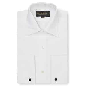 White Marcella Tailored Evening Shirt