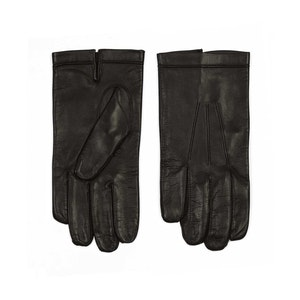 Brown Silk Lined Calf Leather Gloves
