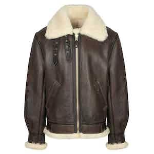 Brown B3 Shearling Jacket