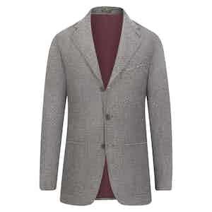 Black and White Chevron Cashmere Single-Breasted Jacket