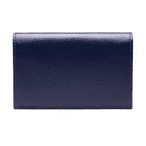 Marine Blue Goat Leather Card Case