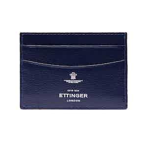 Marine Blue Goat Leather Card Holder