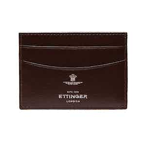 Chocolate Brown Goat Leather Card Holder