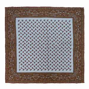 Blue Acacia Soave Silk Patterned Pocket Square