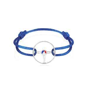 24H Le Mans Steering Wheel Sterling Silver on Bleu France cord